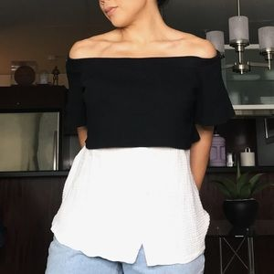 Anthropologie off shoulder layered tunic - size M
